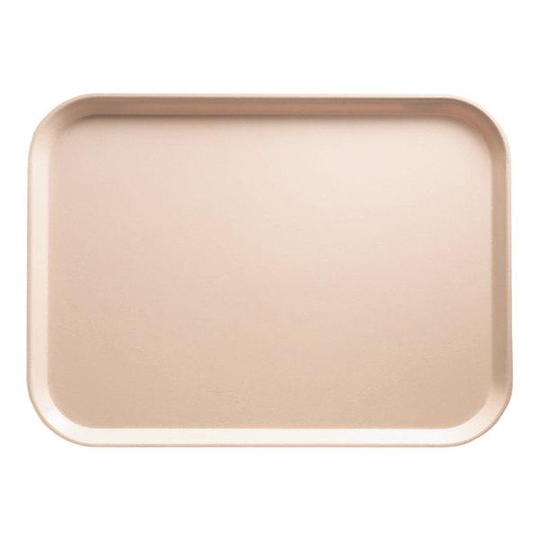 "Cambro 3343106 13"" x 17"" (33 x 43 cm) Rectangular Metric Light Peach Customizable Fiberglass Camtray - 12/Case"