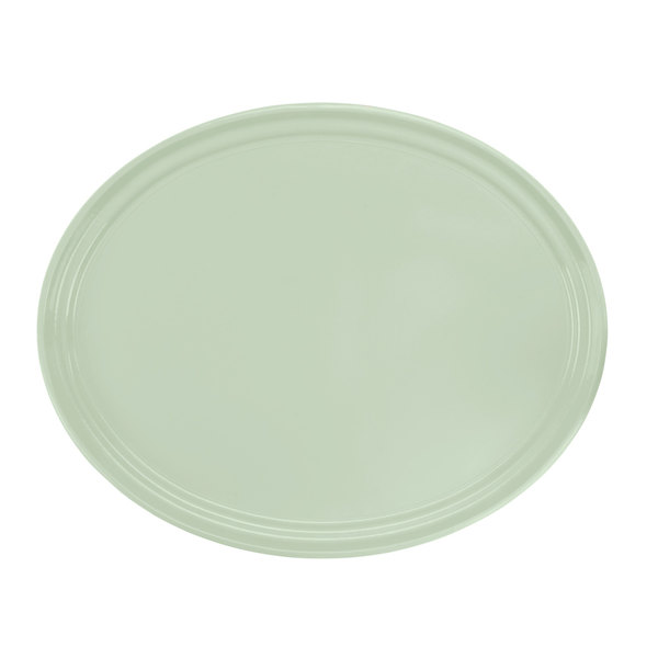 "Cambro 2500429 19 1/4"" x 24"" Oval Key Lime Customizable Fiberglass Camtray - 6/Case"