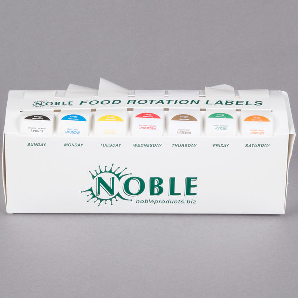 """Noble Products 7-Slot Dispenser with 7 Removable 1"""" Day of the Week Label Rolls"""
