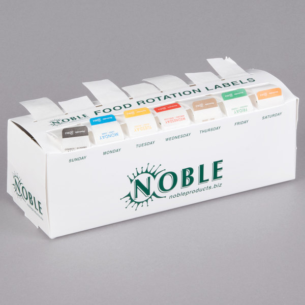 """Noble Products 7-Slot Dispenser with 7 Dissolvable 1"""" Day of the Week Label Rolls Main Image 1"""