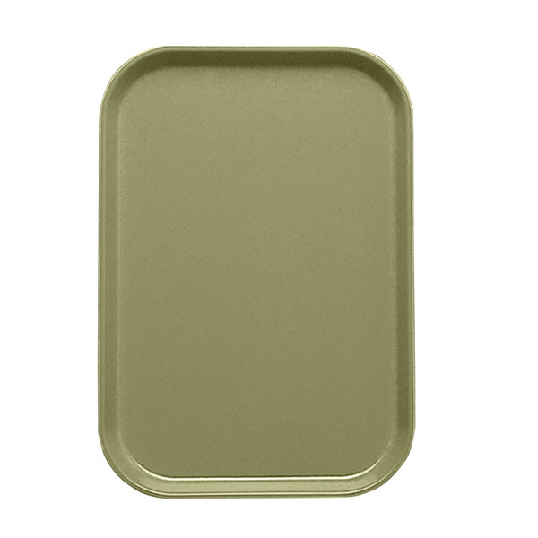 "Cambro 1015428 10 1/8"" x 15"" Olive Green Customizable Insert for 1520 Fiberglass Camtray - 24/Case"