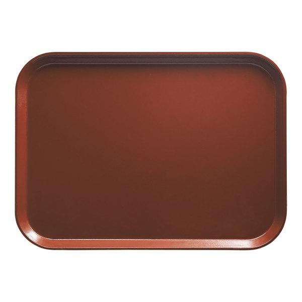 """Cambro 926501 8 7/8"""" x 25 9/16"""" x 1"""" Rectangular Real Rust Customizable Fiberglass Camtray - 12/Case"""