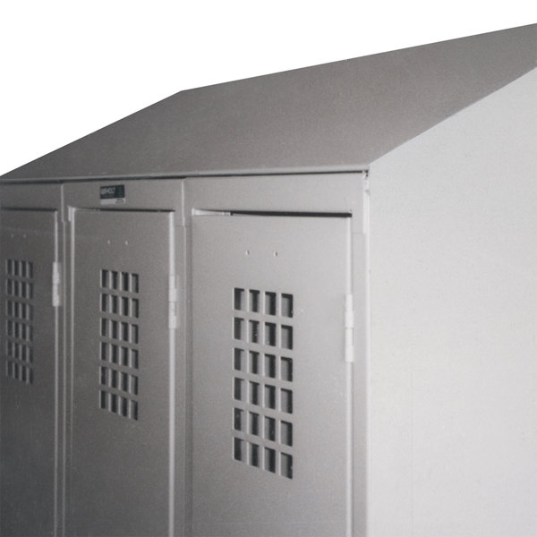 "Winholt WLST-18 Slope Top Crown Kit for 18"" Deep Triple Column Lockers Main Image 1"