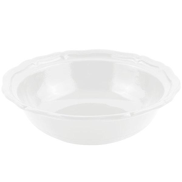 Bon Chef 9054 Queen Anne 10 Qt. Sandstone White Cast Aluminum Salad Bowl