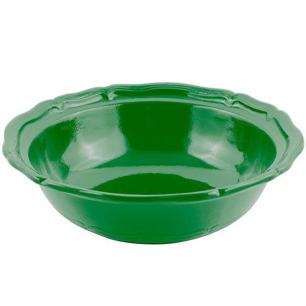 Bon Chef 9054 Queen Anne 10 Qt. Sandstone Calypso Green Cast Aluminum Salad Bowl