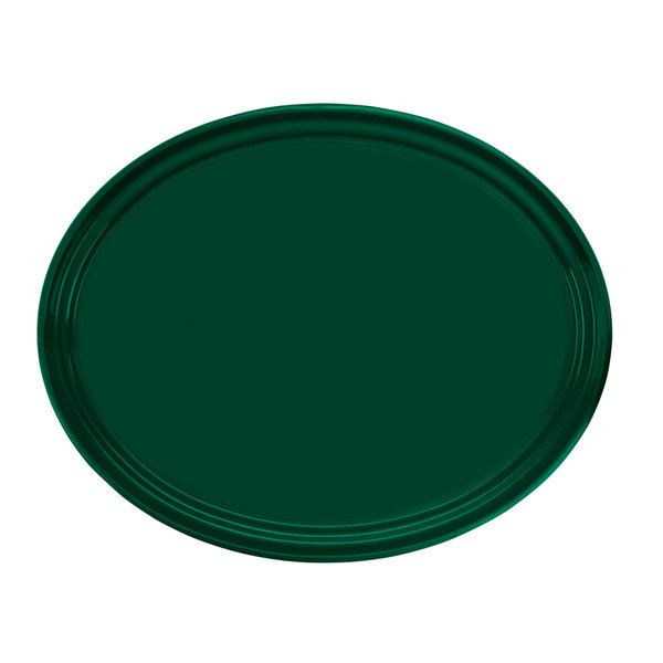 "Cambro 2700119 22"" x 26 7/8"" Oval Sherwood Green Customizable Fiberglass Camtray - 6/Case"