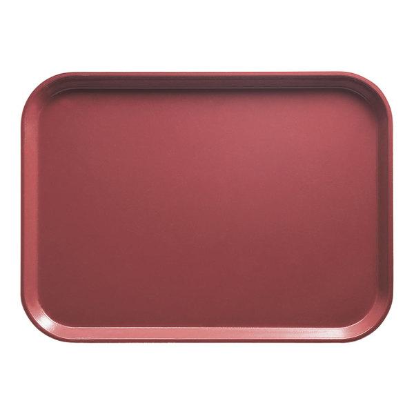 "Cambro 2025410 20 3/4"" x 25 9/16"" Rectangular Raspberry Cream Customizable Fiberglass Camtray - 6/Case"