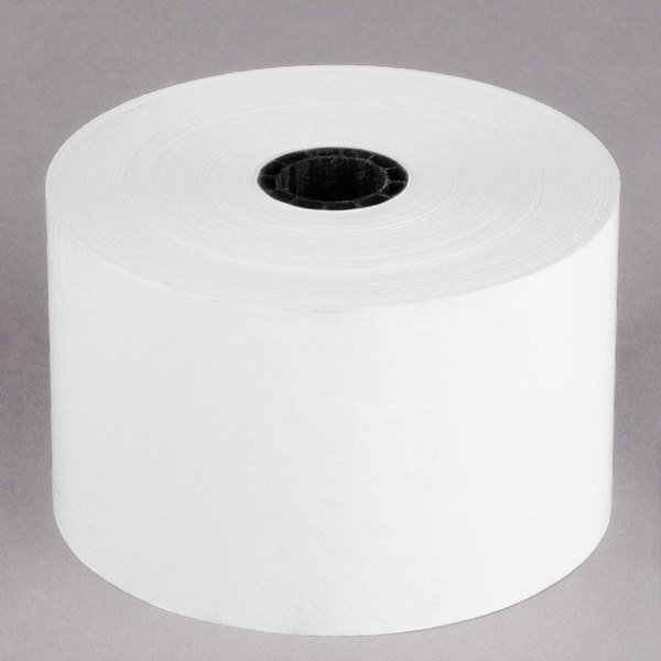 """Point Plus 2 5/16"""" x 400' Thermal Gas Pump Paper Roll Tape - 12/Case Main Image 1"""