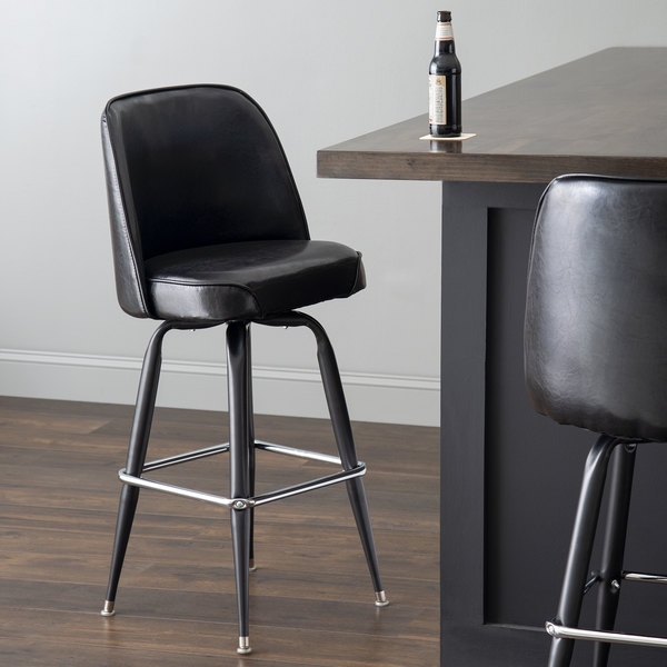 Cool Lancaster Table Seating Deluxe Black Barstool With 19 Wide Bucket Seat Machost Co Dining Chair Design Ideas Machostcouk