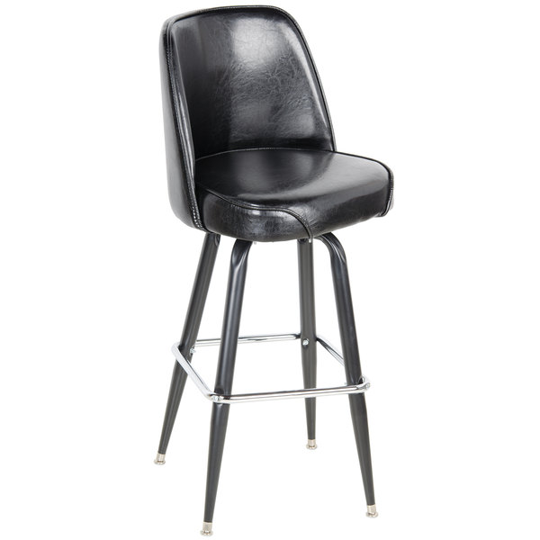 Superb Lancaster Table U0026 Seating Deluxe Black Barstool With 19 Amazing Pictures