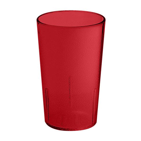 GET 6605-1-6-R 5 oz. Red SAN Plastic Textured Tumbler - 72/Case