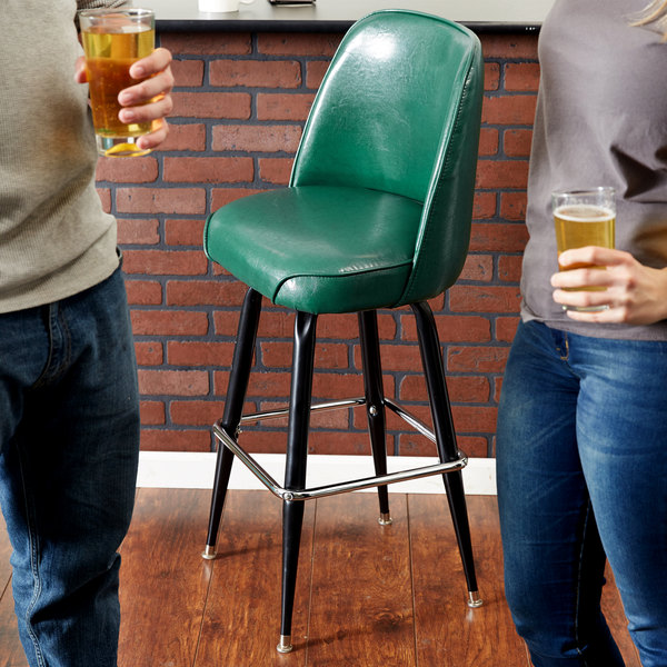 Lancaster Table U0026 Seating Deluxe Green Barstool With 19