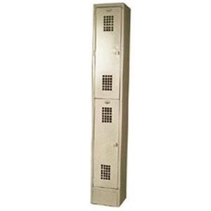 Winholt WL-21 Single Column Two Door Locker - 12 inch x 12 inch