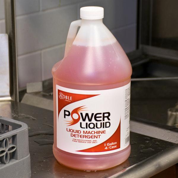 Noble Chemical 1 Gallon / 128 oz. Power Liquid Dish Washing Machine Detergent - 4/Case