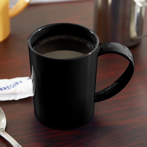 Carlisle 4306603 8 oz. Black Tritan Stackable Mug - 12/Case