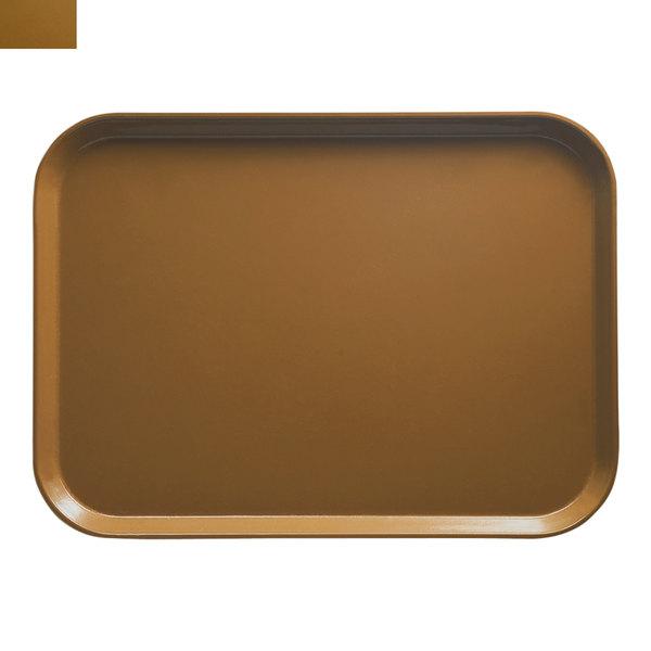"Cambro 2632508 10 7/16"" x 12 3/4"" (26,5 x 32,5 cm) Rectangular Metric Suede Brown Customizable Fiberglass Camtray - 12/Case"