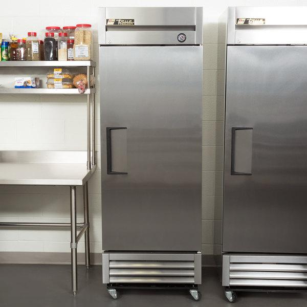 """True T-19FZ 27"""" One Section Solid Door Reach in Freezer"""