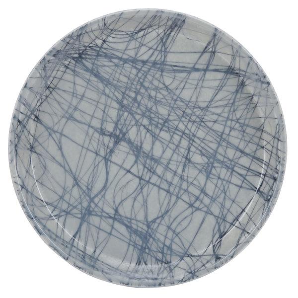 "Cambro 1000277 10"" Round Swirl Gray Customizable Fiberglass Camtray - 12/Case"