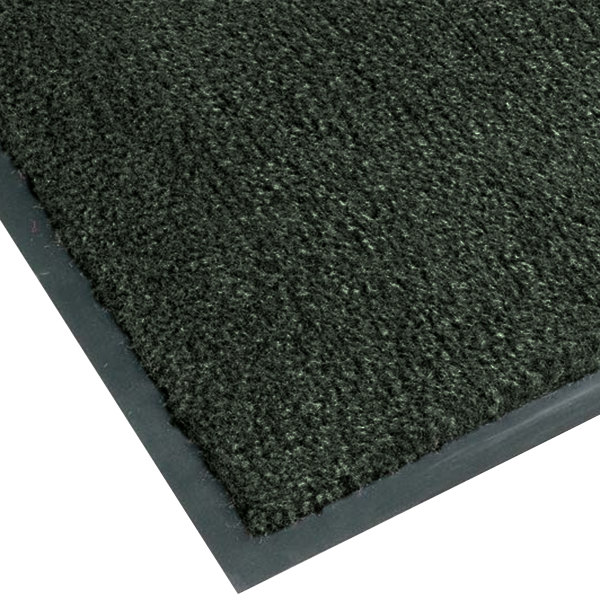 "Notrax T37 Atlantic Olefin 4468-163 4' x 6' Forest Green Carpet Entrance Floor Mat - 3/8"" Thick Main Image 1"