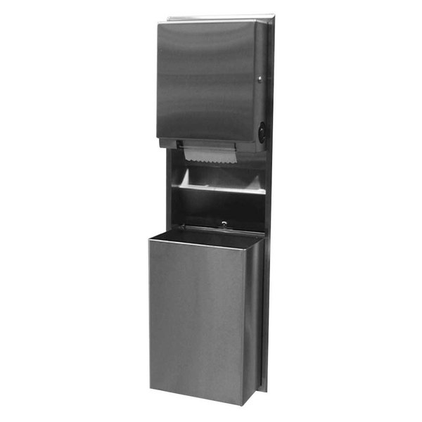 Bobrick B-39617 ClassicSeries Recessed Convertible Paper Towel Dispenser / Waste Receptacle Main Image 1