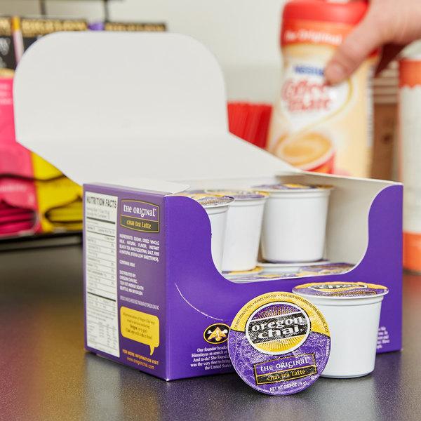 Oregon Chai, Chai Tea Latte Single Serve Cups - 12/Box
