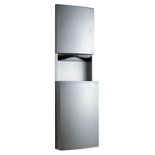 Bobrick B-43944 ConturaSeries Recessed Paper Towel Dispenser / Waste Receptacle