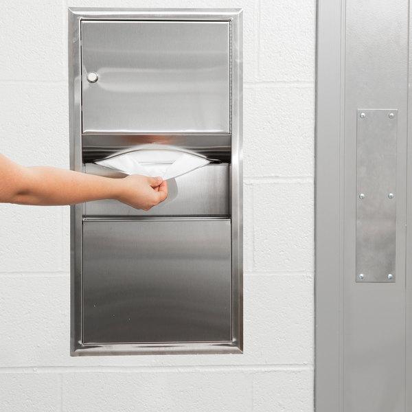 Bobrick B-369 ClassicSeries Recessed Paper Towel Dispenser / Waste Receptacle Main Image 4