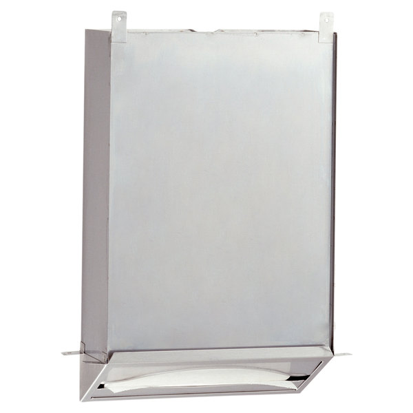 Bobrick B-318 Recessed C Fold or Multifold Paper Towel Dispenser