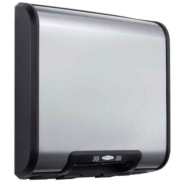 Bobrick B-7128 QuietDry Series TrimDry ADA No-Touch Surface Mount Hand Dryer - 208/240V; 1400-1900W Main Image 1