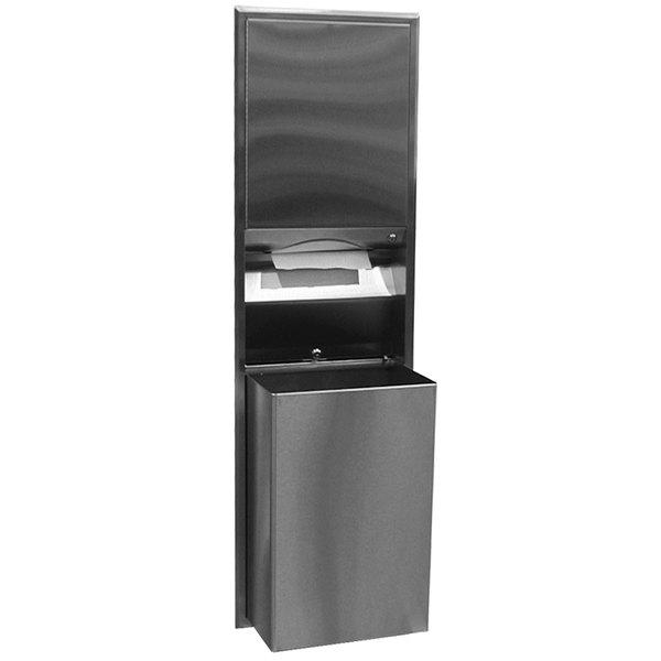 Bobrick B-3947 ClassicSeries Recessed Convertible Paper Towel Dispenser / Waste Receptacle Main Image 1