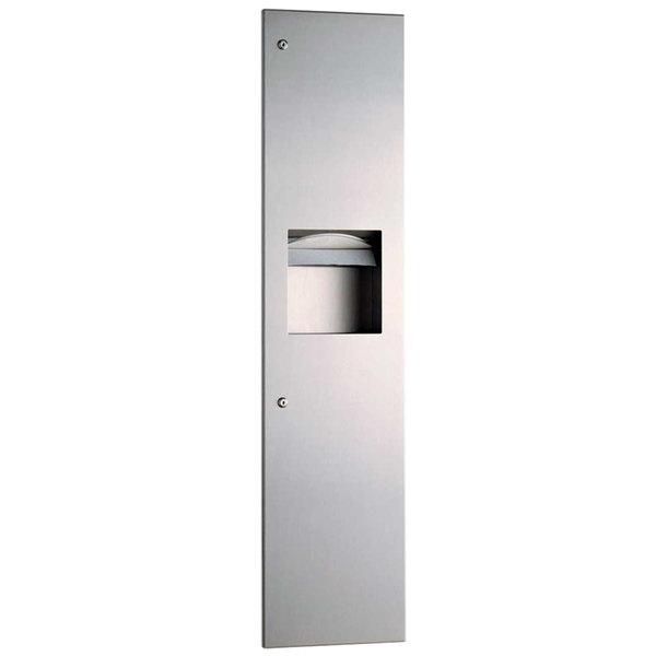 Bobrick B-380349 TrimLineSeries Surface-Mounted Paper Towel Dispenser / Waste Receptacle