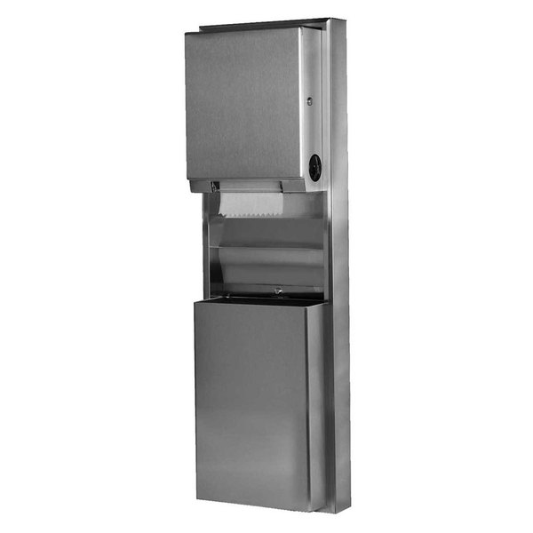 Bobrick B-39619 ClassicSeries Surfaced-Mounting Convertible Paper Towel Dispenser / Waste Receptacle
