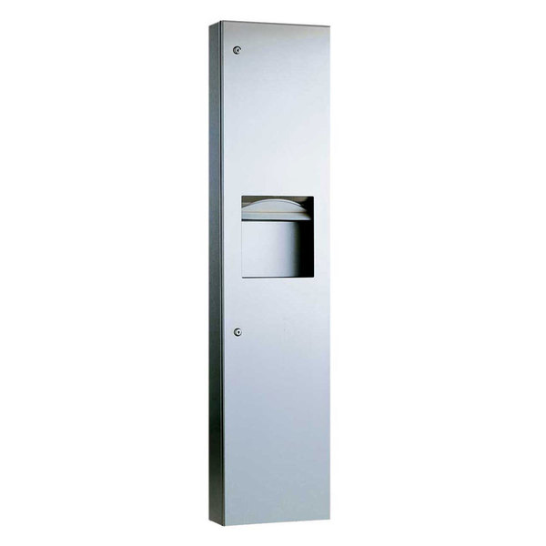 Bobrick B-38032 TrimLineSeries Semi-Recessed Paper Towel Dispenser / Waste Receptacle