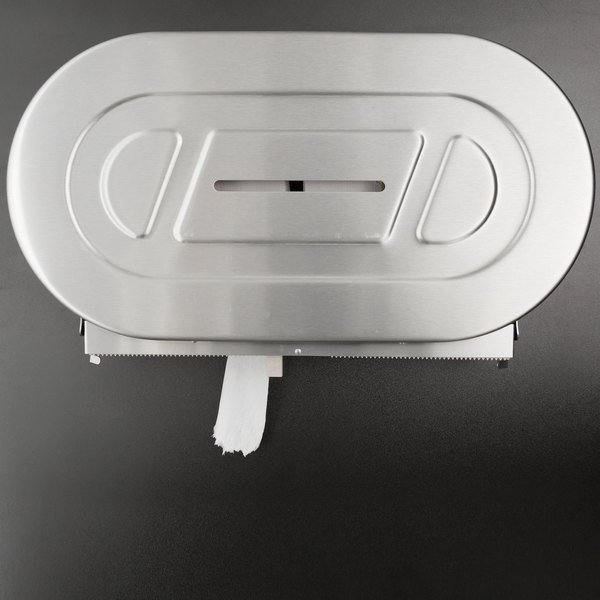 Bobrick B-2892 ClassicSeries Surface Mounted Twin Jumbo Roll Toilet Tissue Dispenser Main Image 5