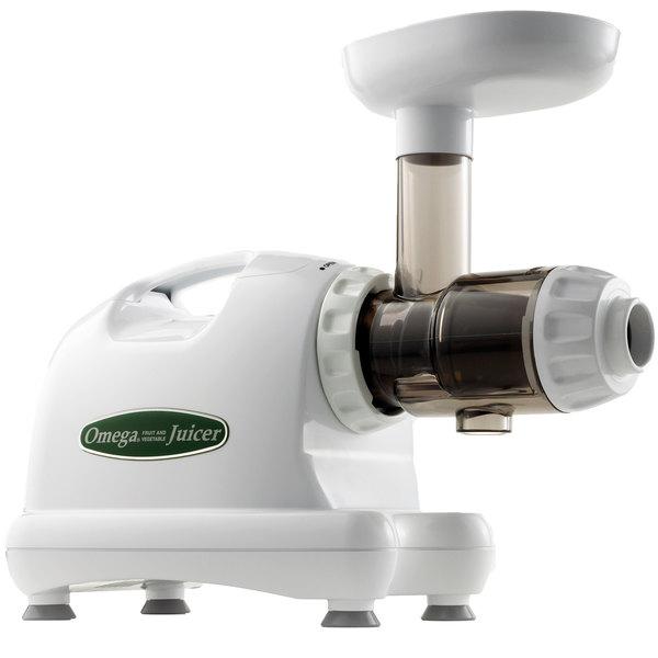 Omega J8004 White Masticating Juice Extractor 120v