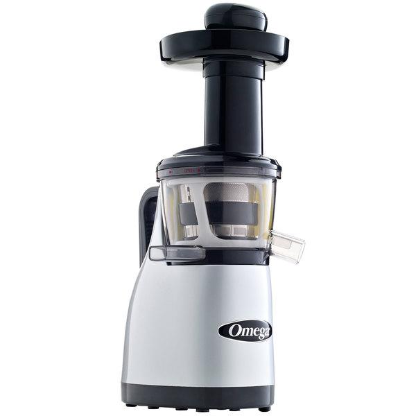 Omega VRT370HDS Silver Vertical Masticating Juicer - 120V, 250W