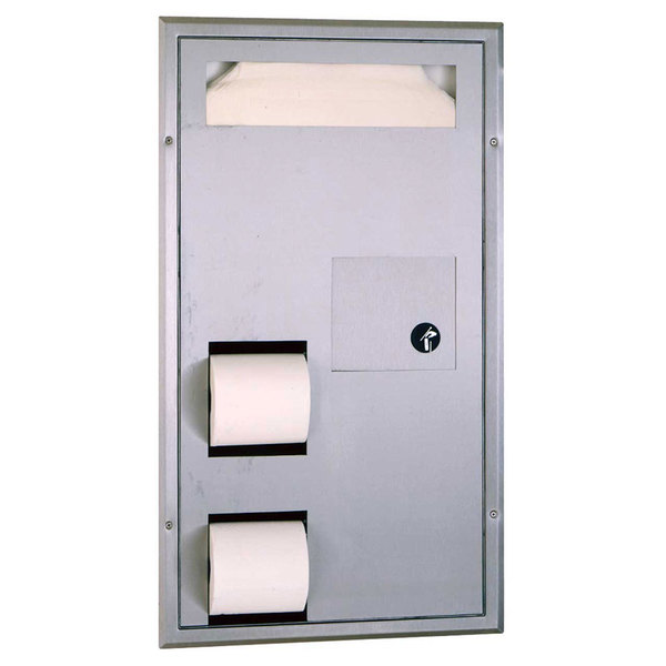 Bobrick Bathroom Partitions Style b3571 classicseries partition mounted seat cover dispenser with