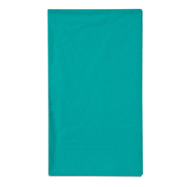 Hoffmaster 180501 Teal 15 inch x 17 inch Paper Dinner Napkins 2-Ply - 125 / Pack