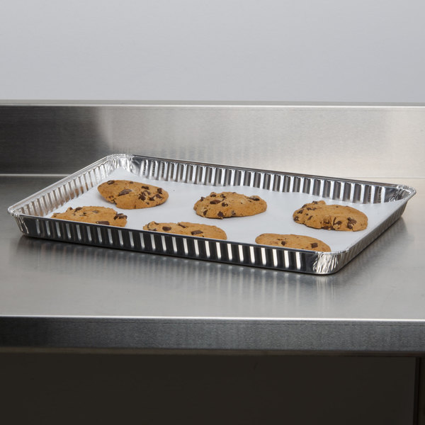 Durable Packaging 1/2 Sheet Foil Cake Pan - 25/Pack