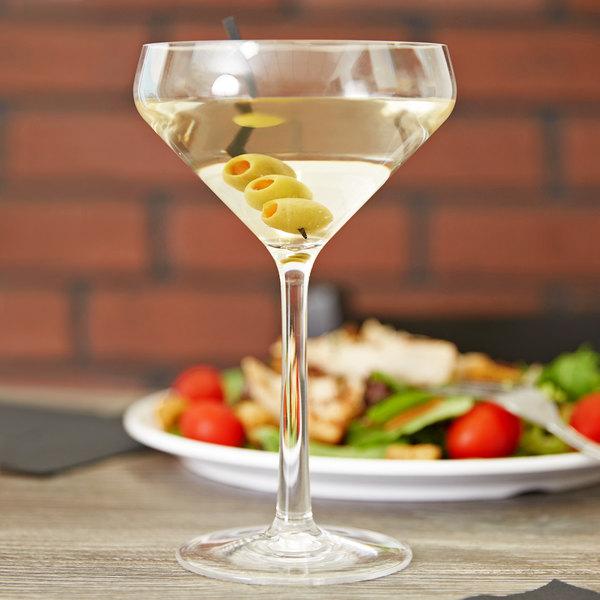 11 oz. Clear Plastic Martini Glass - 12/Case