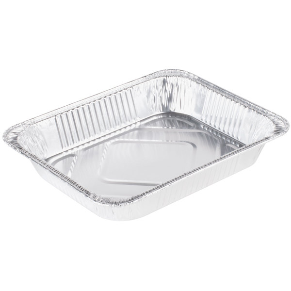 Western Plastics 5122 Half Size Heavy Duty Foil Steam Table Pan Medium Depth 2 3/16 inch - 20/Pack