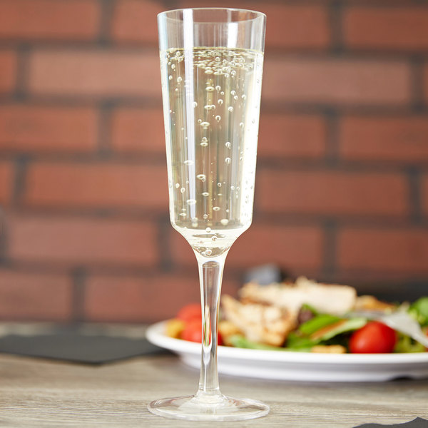 Carlisle 4950007 Astaire 6 oz. Clear Plastic Champagne Flute Glass - 12/Case