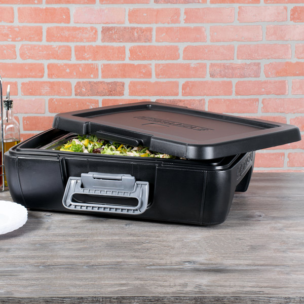 Carlisle IT14003 Onyx Black Top Loading Insulated Food Pan Carrier