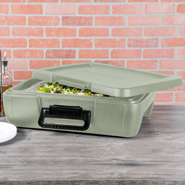 Carlisle IT14062 Olive Top Loading Insulated Food Pan Carrier