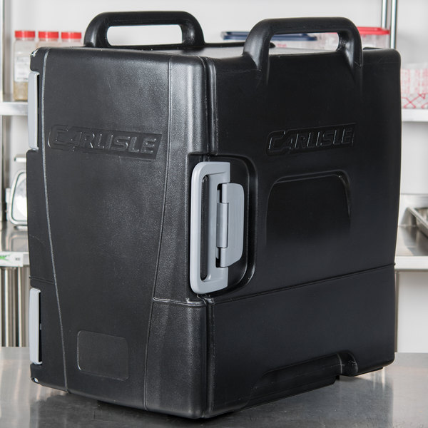 Carlisle IT40003 Onyx Black Front Loading Insulated Food Pan Carrier