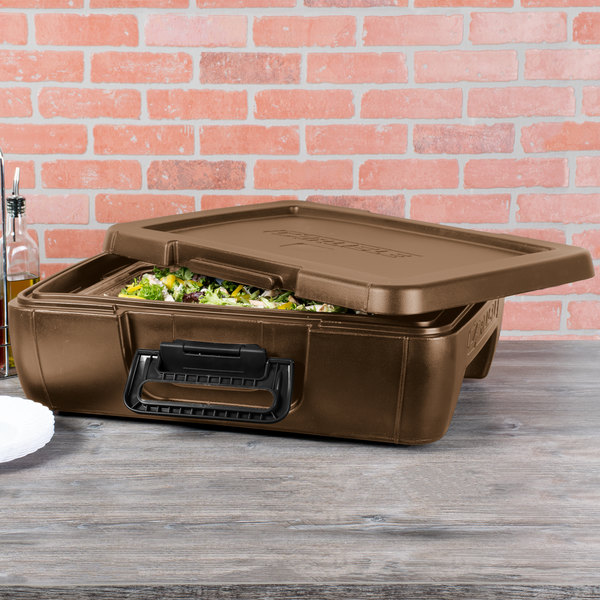 """Carlisle IT14043 Cateraide™ IT Caramel Top Loading 4"""" Deep Insulated Food Pan Carrier Main Image 3"""