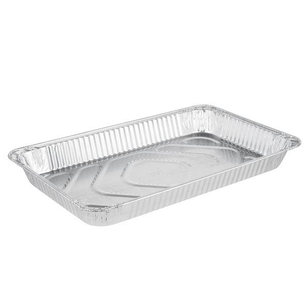 Western Plastics 5120 Full Size Heavy Duty Foil Steam Table Pan Medium Depth 2 3/16 inch - 50/Case