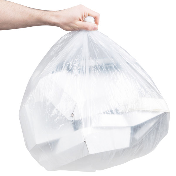 "Berry AEP 303613C 20-30 Gallon 0.51 Mil 30"" x 36"" Low Density Medium Duty Clear Can Liner / Trash Bag - 250/Case Main Image 3"