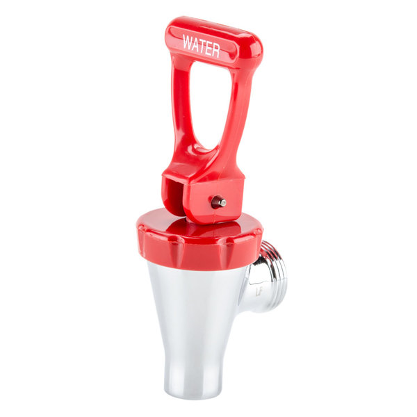 """Bunn 07114.0000 Faucet Assembly with 8"""" Extension and Red Hot Water Handle for Hot Water Dispensers & Coffee Urns"""