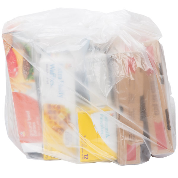 """Berry AEP 303622C 20-30 Gallon 0.9 Mil 30"""" x 36"""" Low Density Heavy Duty Clear Can Liner / Trash Bag - 250/Case"""